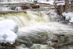 Sixty Six (Perry McKenna) Tags: snow water canon river frozen melting tripod falls waterfalls mississippiriver 5d gitzo almonte mkiii 08sec canon70300l hadtouseiso50toreduceexposure