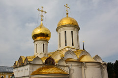 The Trinity Cathedral in the Holy Trinity-St. Sergius Lavra in Sergiev Posad. (Ken Zaremba) Tags: building church europe cathedral russia moscow geography russianorthodoxchurch russianfederation sergiyevposad russianmonastery religiousbuilding moscowdistrict thetrinitylavraofsaintsergius