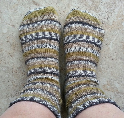 Bavarian Socks Finished Pair