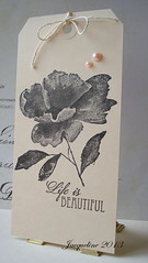 Painted flower in black (Jacqueline.fr) Tags: tag k5767