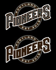 Wordmark (Sean Bucknam) Tags: art portland logo baseball pioneers branding 225 wordmark