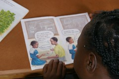 Learning to read. Zambia