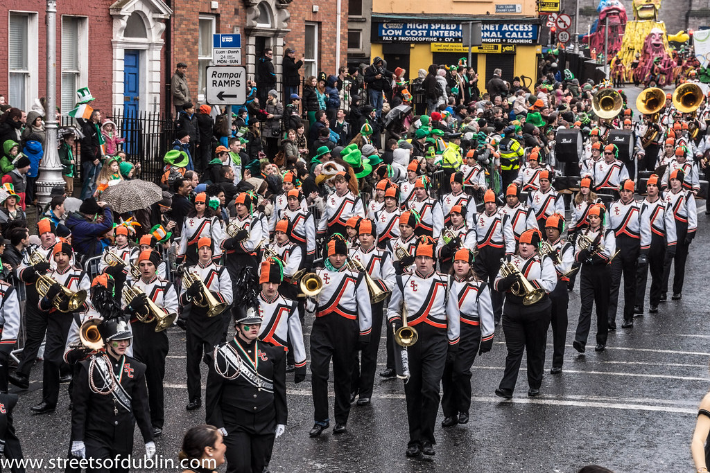 St. Patrick's Day Parade (2013) In Dublin - Spruce Creek Marching Band, Florida, USA