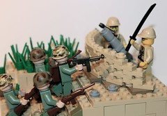 War in the Pacific (Saber-LRRP) Tags: usmc japanese us war lego pacific m1 wwii mortar ww2 thompson carbine m1a1 ww11