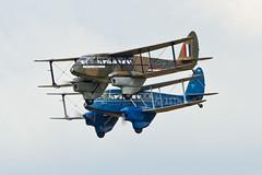 De Havilland DH.89A Dragon Rapide and Dominie - 1 (NickJ 1972) Tags: dragon aviation airshow 2012 sybille dehavilland rapide dominie sywell gagtm dh89 gagjg