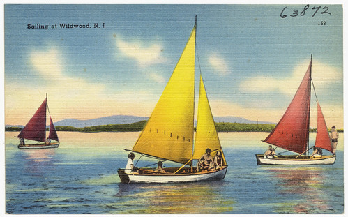 boats newjersey postcards seas tichnorbrothers