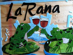La Rana Commission (BaileyWho?) Tags: blue art water glass la lily wine mosaic pad stained frogs rana commission
