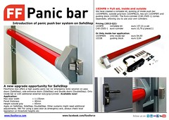 1034PB Panic push bar for SafeStep etc (FlexiForce) Tags: bar lock panic push exit emergency ff garagedoor rsc sidestep safestep overheaddoor doublestep flexiforce passdoor