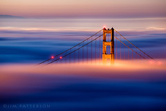 Revelation - Golden Gate Bridge, San Francisco, California (Jim Patterson Photography) Tags: sanfrancisco california city morning travel beautiful sunrise dawn bay central scenic goldengatebridge bayarea metropolis marinheadlands jimpattersonphotography jimpattersonphotographycom seatosummitworkshops seatosummitworkshopscom