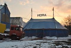 Bernauer Strasse, Berlin (J@ck!) Tags: snow berlin circus aron prenzlauerberg bigtop bernauerstrasse aroncircus