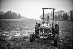 (drfugo) Tags: old winter england tractor cold field sadness sussex farm atmosphere machinery fordson leu dexta eastgrinstead canon5dmkii nikon55mmf12s nikkors55mmf12typeiv