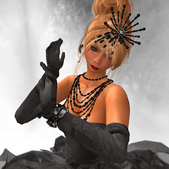 SHAME on me! (KymSara) Tags: portrait fashion blog jewelry blonde blogged gown strapless laq dva posesion kymsara finesmith trasognoerealta desirhautecouture