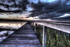 Long Jetty (loobyloo55) Tags: sunset water jetty australia nsw newsouthwales hdr longjetty