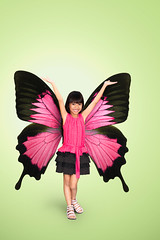 Little girl with butterfly wings (Patrick Foto ;)) Tags: carnival pink party portrait people white cute green girl beautiful beauty childhood smiling rose female angel butterfly hair asian happy person golden costume kid clothing wings eyes doll pretty child play dress princess little background magic daughter dream young adorable queen celebration fairy fantasy blond precious attractive dreamy caucasian femininity