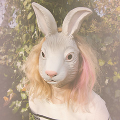 hoppy day (betrwayx) Tags: pink rabbit bunny easter spring mask hop squared selfie 2013