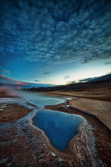 Geothermal area (Gulli Vals) Tags: sky night clouds easter stars iceland mud south pools area geothermal 14mm samyang