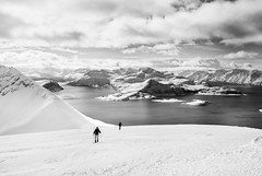 On Kgen, North Norway (S_Peter) Tags: leica 2 bw ski norway by silver boat blackwhite north norwegen arctic pro sw schwarzweiss touring nord x1 troms skitouren lyngen efex skjervy kgen bakcountry