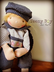 Teeny Boy - Collection 2013 (Les PouPZ) Tags: boy doll waldorf teeny ragdolls puppe clothdolls waldorfdolls waldorftoys cuddledoll waldorfdukker
