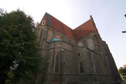 Kościół śś. Piotra i Pawła w Strzegomiu od północnego wschodu