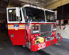 FDNY Engine 330, Bensonhurst, Brooklyn, New York City (jag9889) Tags: ocean county city nyc house ny newyork building tower station architecture brooklyn truck fire engine 330 company kings parkway borough ladder firehouse fdny department firefighters 172 seagrave unit bensonhurst thawing bravest engine330 ladder172
