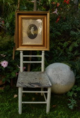 Empty Chair van Gogh - My Great Grandmother - in the Flowering Garden at Ants Brooklet (hedbavny) Tags: chair