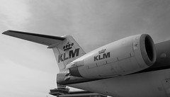 ROLLS ROYCE ENGINE (FOKKER 100) (dav_min) Tags: uk blackandwhite white holiday black classic amsterdam airplane fly airport europe view aircraft engine rollsroyce 100 klm schipol edit fokker areoplane cityhopper