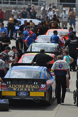 Traffic Jam (Will Bryan) Tags: nascar stockcarracing indianapolismotorspeedway gasolinealley sprintcup 2011brickyard400qualifying