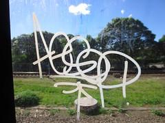 Aesop - Sydney - 2013 (Eddie Haskel's Sydney Graffiti Flicks) Tags: train graffiti tag sydney rail nsw vandalism newsouthwales aesop insides cityrail handstyle 2013 mmxiii