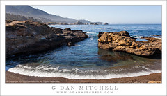Cove and Wave (G Dan Mitchell) Tags: ocean california park travel sea usa seascape mountains beach nature america print point landscape coast monterey highlands haze rocks state pacific cove horizon north stock scenic reserve wave line ridge pebble license carmel peninsula lobos stacks
