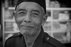 Cuman, Solo (MrCrisp) Tags: portrait blackandwhite blackwhite java javanese solo indonesia face eyes man nikon nikond3300 travel asia muslim islam southeast