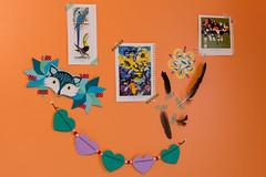 bedroom wall (jojoannabanana) Tags: orange wall star origami heart handmade decoration feathers garland fox decor charleyharper washitape 3662016