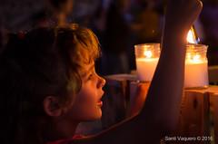 A La Luz de las Velas (Santi Vaquero) Tags: murallas de irua ilumunadas con velas