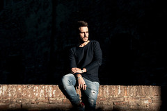 Photo by Luca Scola - All rights reserved (<NERVO> Luca) Tags: uomo guy man homme hombre bear beard portrait light shadow