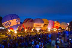 Balloon Fiesta Night glow (LongLensPhotography.co.uk - Daugirdas Tomas Racys) Tags: 2016 balloon bristol fiesta balloons blue crowd dusk festival glow light music night people show spectators tethering bristolballoonfiesta