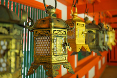 Ornate lanterns at Kasuga Grand Shrine (basair) Tags: red nara honshu japan naraprefecture naracity kasugataishashrine famousplace surfacelevel shrine templebuilding gate japaneseculture metal ornate lantern hanging shinto religion builtstructure inarow cultures architecture outdoors taisha asia old ancient colorimage buddhism history multicolored unescoworldheritagesite entrance nonurbanscene thepast traveldestinations colors tranquilscene spirituality