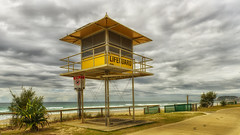 Closed for winter (BAN - photography) Tags: lifeguardtower fence path beachfront sea sand ocean d810 grass signs headland
