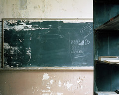 (.tom troutman.) Tags: mamiya 7 film analog 120 6x7 50mm mediumformat fuji pro 400 abandoned school nc northcarolina