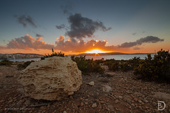 Rock the sunset (D_Bosman) Tags: sunset landscape landschap zonsondergang rock sea zee seascape kleur malta