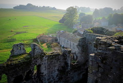 From Middleham castle looking south (perseverando) Tags: middleham castle yorkshire richardiii neville stone medieval perseverando