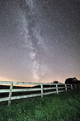 Summer's Last Dance (Kirby Wright) Tags: milky way galaxy stars dust lanes universe wide angle fence grass night shot sky super long exposure dane county vermont wisconsin middle no where astro astronomy astrophotography single light painting nikon d700 manfrotto rokinon 14mm f28 28 14