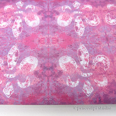Fleur-de-Lis in Lavender and Pink (JoMo (peaceofpi)) Tags: fabric designerfabric fleurdelis pink purple abstract textile spoonflower peaceofpi canada french sewing quilting print swatch