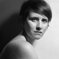(Jay DeFehr) Tags: juliet portrait film bw yulichka hasselblad 500c zeisssonnar150mmf4 510pyro 1100 600 70f square 6x6