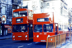 Slide 074-93 (Steve Guess) Tags: england gb uk london transport leyland devon general gta 933gta seadog atlantean open top topper topless bus red sightseeing round dms daimler fleetline hire