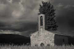 Old church (Daniele Agosto 79) Tags: church clouds mountains blackandwhite nikon tree udine italy