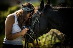 """Friends ("""" Bernhard Witt """") Tags: sonyalpha850 tamron70200 horse girl"""