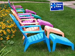 Hillary! (PPWIII) Tags: grandrapids clinton kaine hillary chairs adirondack plymouth boston eastgate