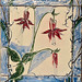 Columbine, ceramic tile, Mary Lou Reid