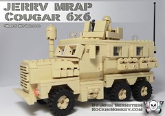 Custom MRAP JERRV without Minifigs (Josh Bernstein) Tags: afghanistan 6x6 modern soldier war force lego military iraq eod armor minifig protection cougar machinegun ied tactical mrap brickarms jerrv tinytactical