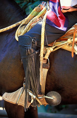 Chile 12.2.1 (David Noton) Tags: travel detail up leather vertical metal america boot spurs cowboy close view south traditional side culture equipment riding latin rodeo motivation saddle chilean stirrup huaso sadlery