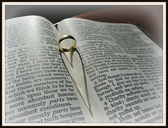 Love is...... (CalamityCam 2011) Tags: light shadow book heart ring bible 113picturesin2013
